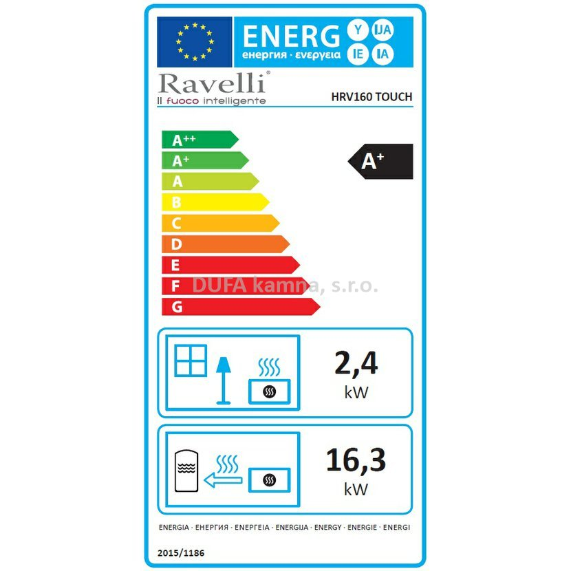 Kachlová Kamna S Výměníkem Ravelli Hrv 160 Touch 18 16 Kw Ecodesign